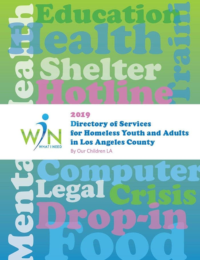2019 Directory of Services for Homeless Youth